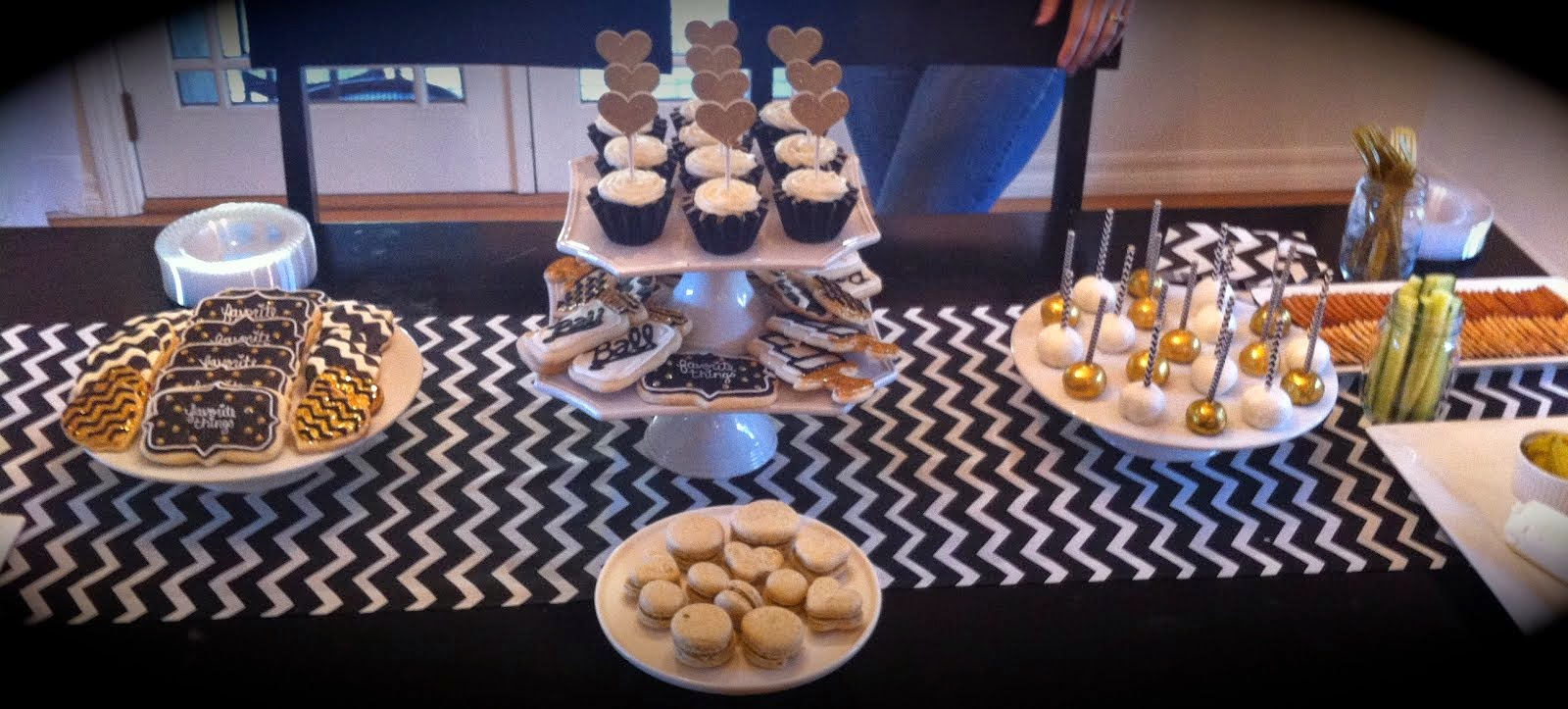 CHEVRON FAVORITE THINGS DESSERT TABLE