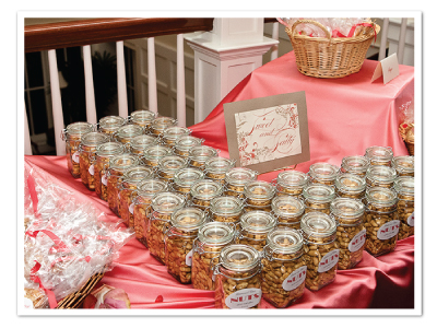 sweet salty favor sign table