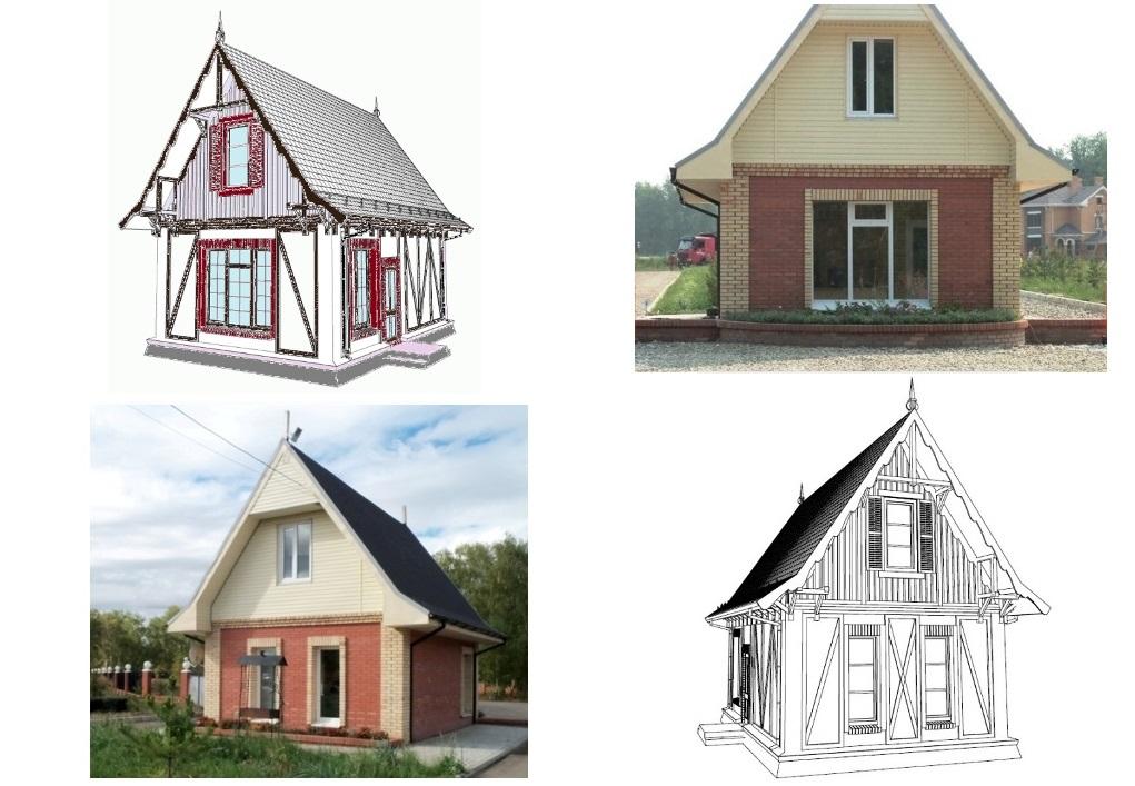 Стиле фахверк и фото реального дома