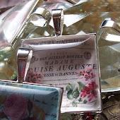 """""""Sølv"""" rammer - vedhæng m. blomster"""