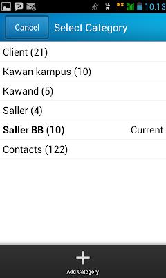 tambah kategori kontak