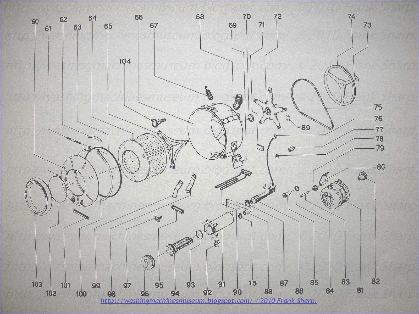 Washer Rama Museum  CGE MOD LV520  LV525 LUX YEAR 1971 SCHEMATIC    DIAGRAM