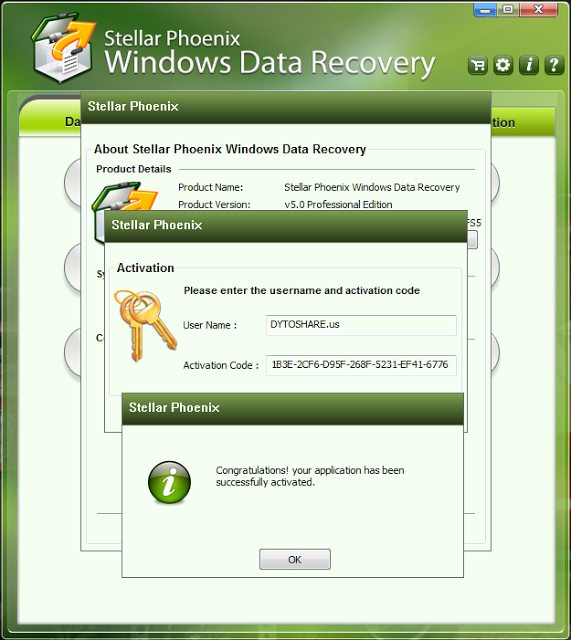 Stellar phoenix windows data recovery activation key and username
