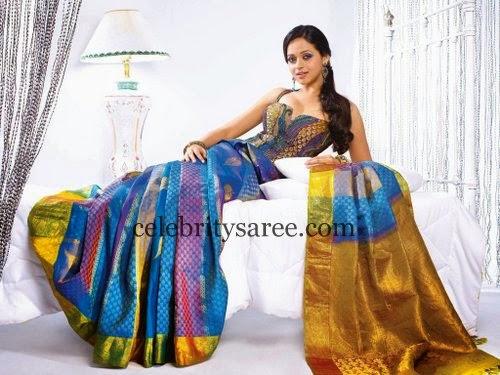 Bhavana Multishaded Silk Saree
