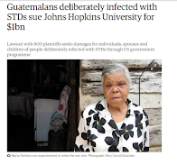 Guatemalans sue Johns Hopkins for infecting them with STDs