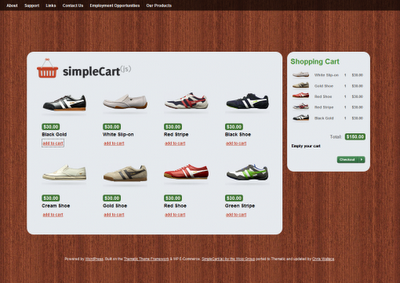SimpleCart(js)WordPress Thems E-Commerce