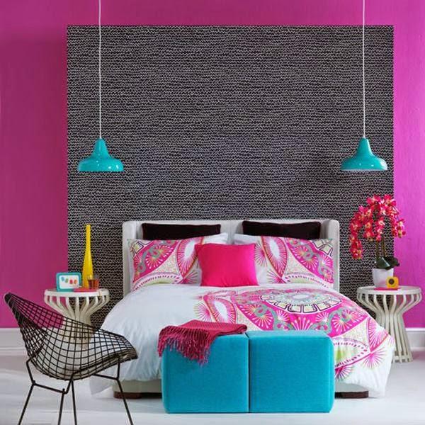 4 الوان زاهية لغرف النوم المودرن