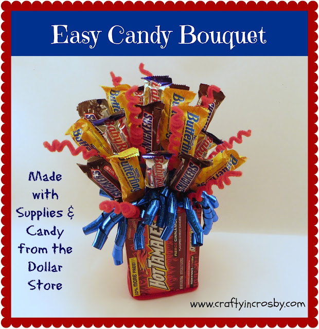Dollar Tree, Birthday gift, Easy Gift Idea, Candy Bouquet, Gift for Him