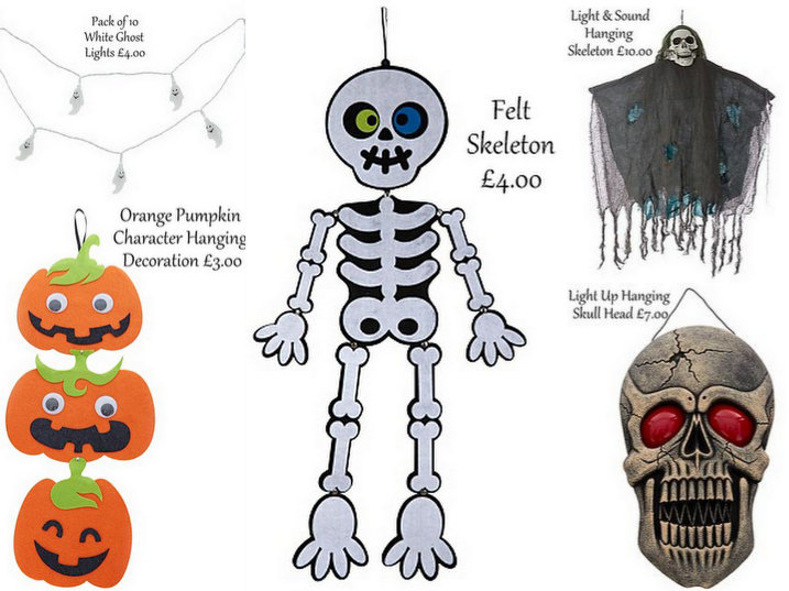 starting from just 3 asda has a selection boo tiful decorations that will give your home that spooky haunted look and a range of demon decs that will