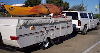 chevy and camping trailer