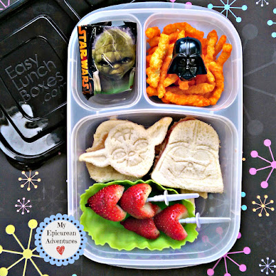 My Epicurean Adventures: Lunch Box Fun 2015-16: Week #17-18. Lunch box ideas, school lunch ideas, lunches, star wars lunch