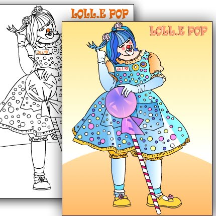 NEW* CLOWN * Custom coloring page