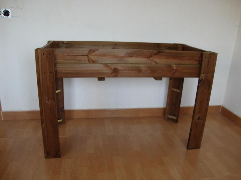 Huerto urbano en madera de autoclave - Autoclave para madera ...