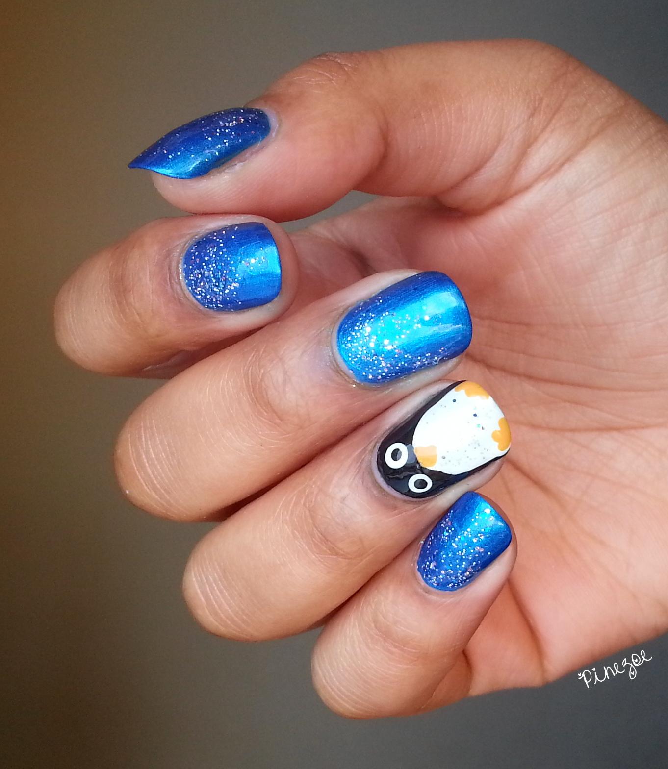 Nail Art Pingouin - Penguin Nail Art