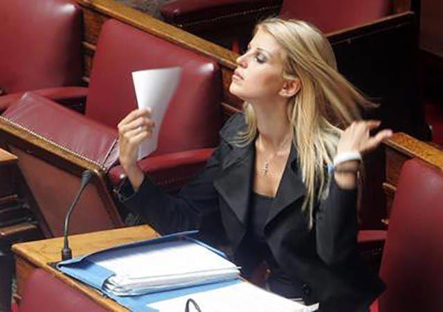 Елена Рапти - самая горячая женщина в парламенте Греции