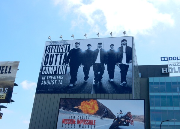 Straight Outta Compton movie billboard