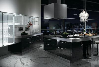 moderna cocina de lujo