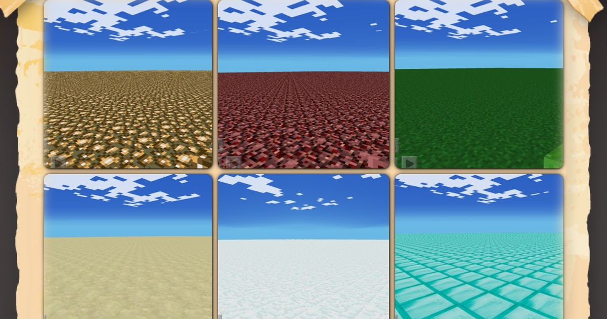 Minecraft pe worlds flat maps pack 1 gumiabroncs Images
