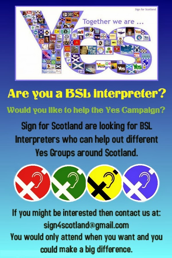 Are you a BSL interpreter?