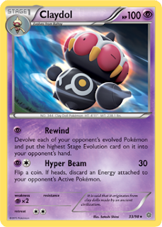 Claydol Ancient Origins Pokemon Card