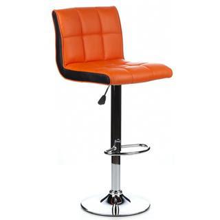 Taburete de asiento acolchado naranja LOUNGE