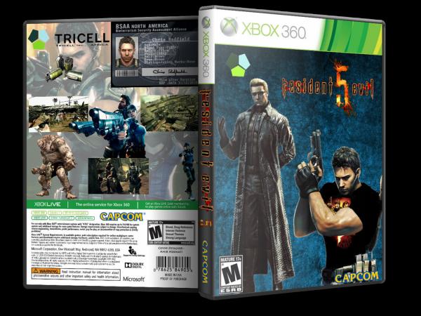 Capa Resident Evil 5 Xbox 360