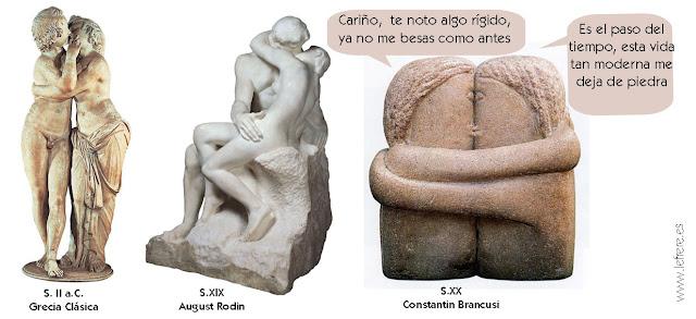 Rodin, Brancusi, beso, el beso