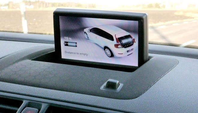 Pop-up screen in electric C30