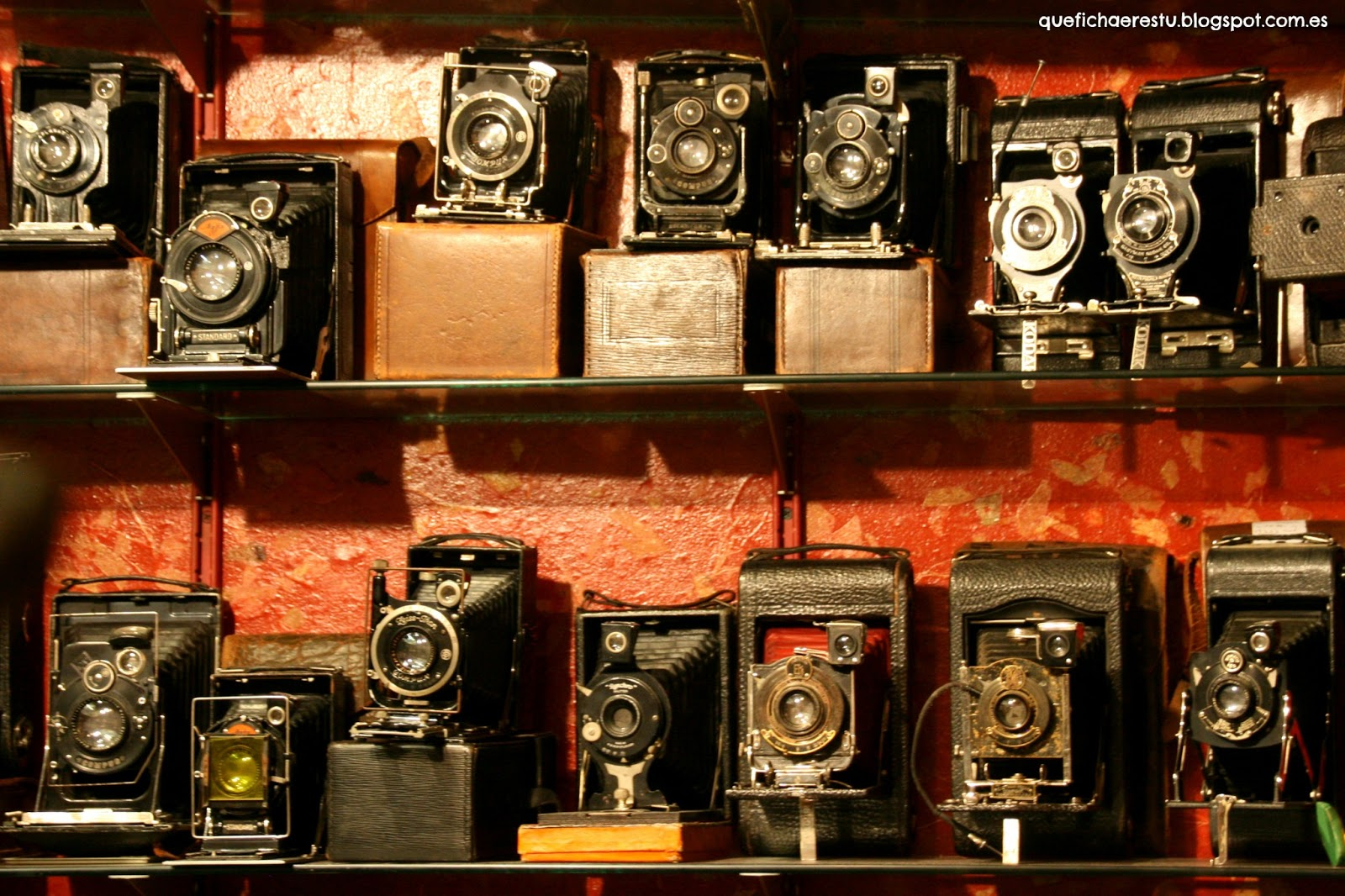 Antique cameras at Portobello Market