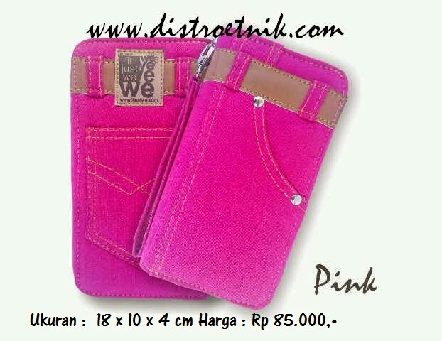 dompet jeans it just we classic series pink