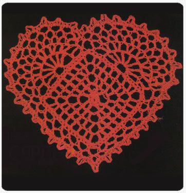 Toalhinha coração em crochet