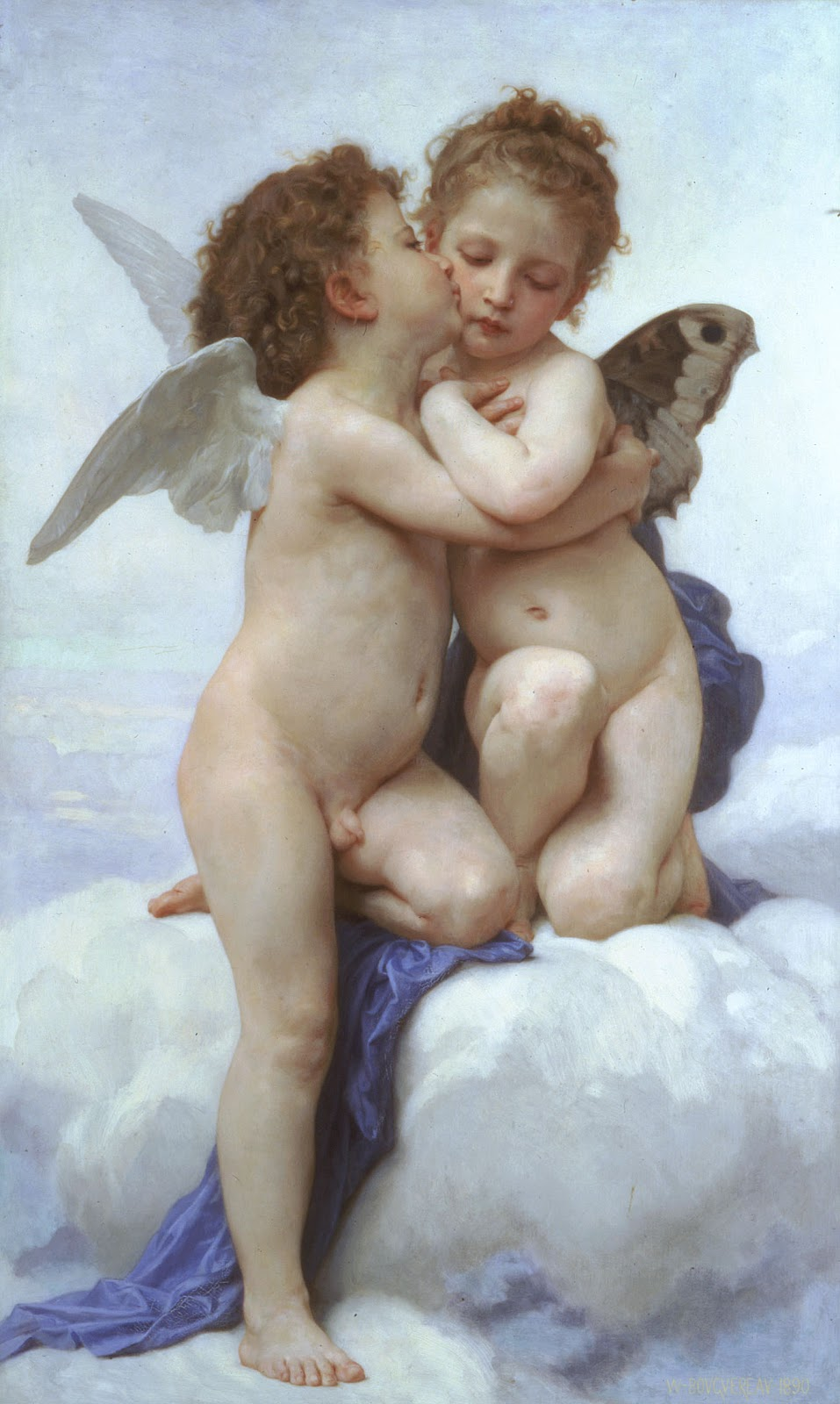 Cupid and Psyche. 1890. Óleo sobre tela - 119.5 x 71 cm