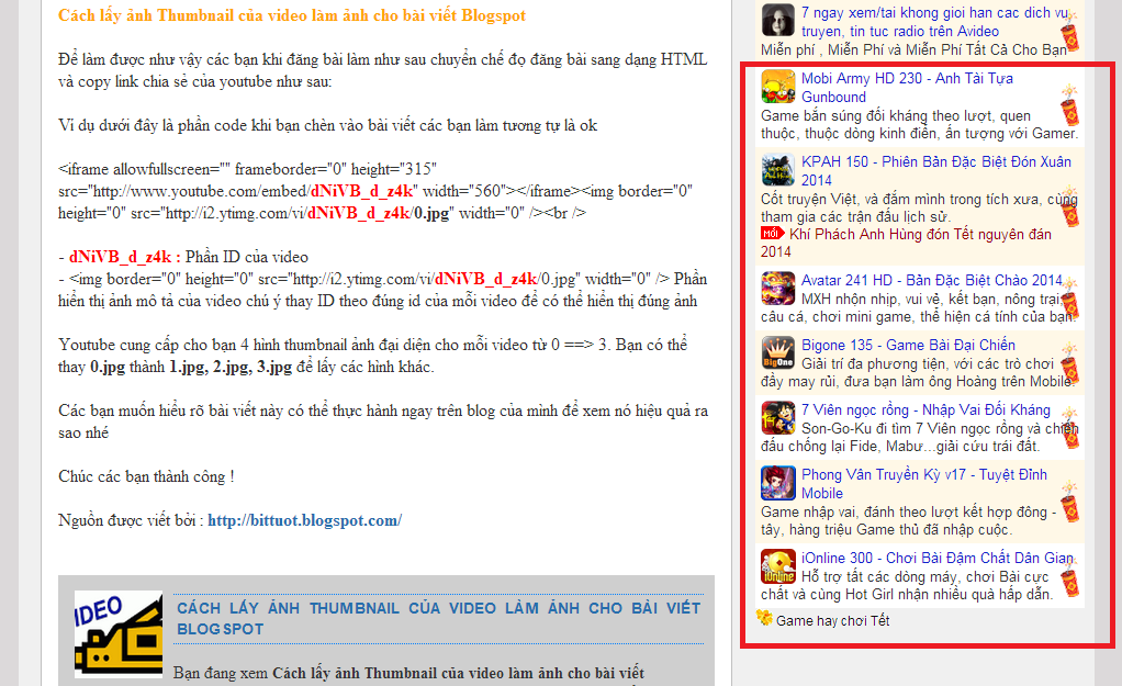 Code quảng cáo chạy dọc khi kéo chuột cho Blogspot