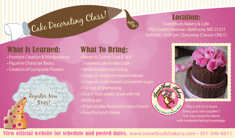 Cake Decorating Classes In Md : Cake Decorating Course