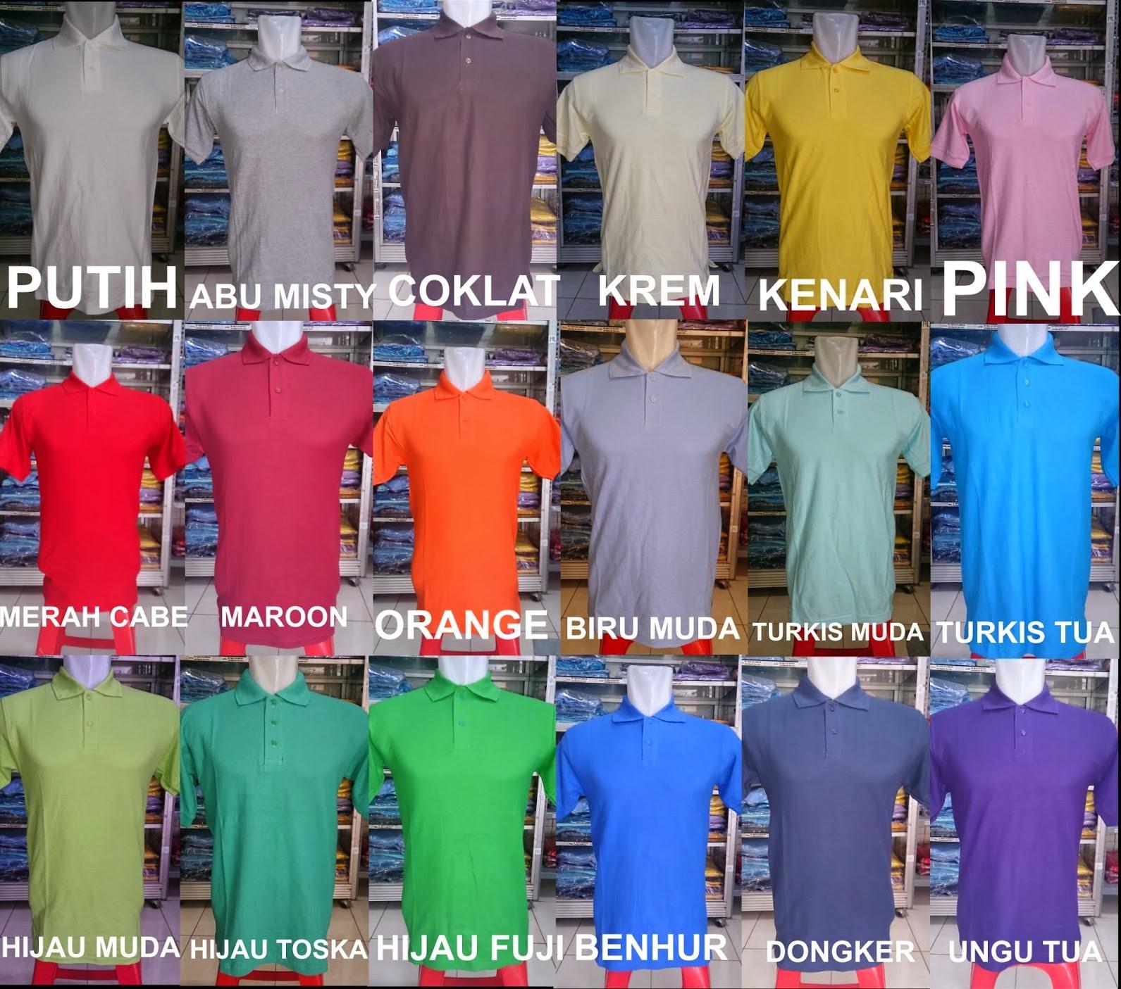 Polo Shirt Polos Jakarta Kaos Navy Misty