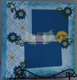 Vine Flowers on Lattice Scrapbook Page