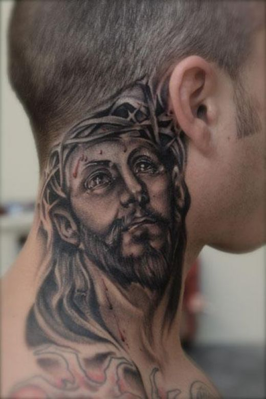 Religious Neck Tattoosjpg