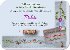 certificado de taller creativo