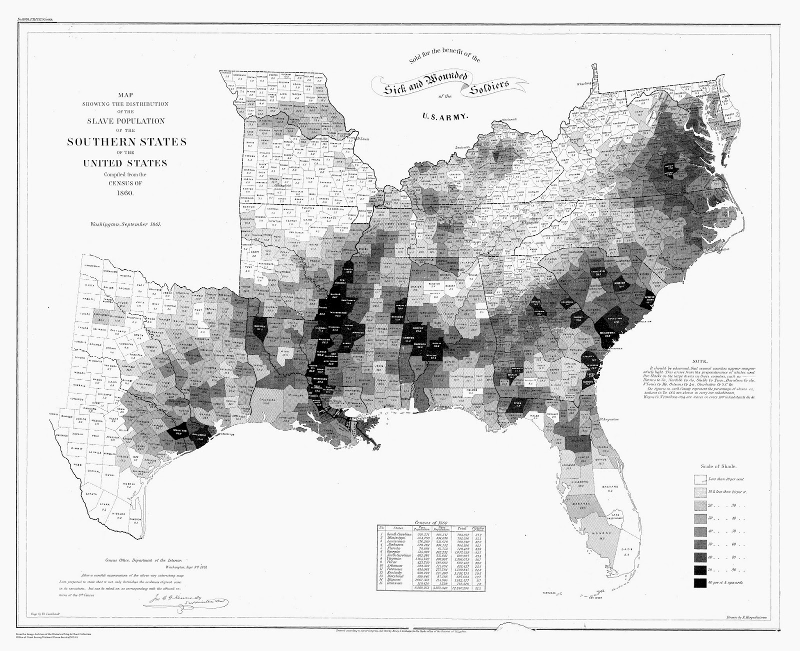 mapping slavery with us census data