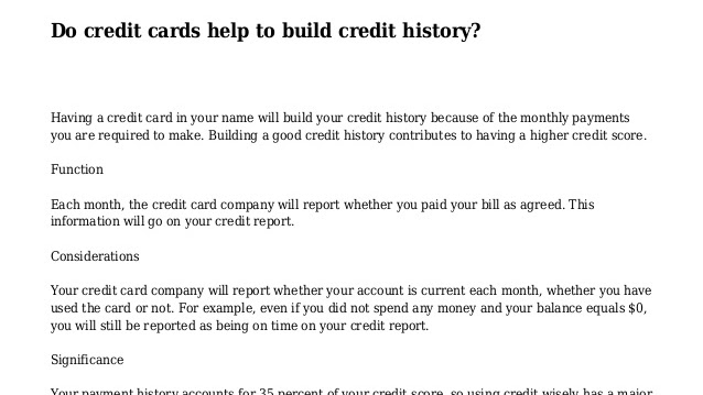 Credit Score - What Helps Build Credit