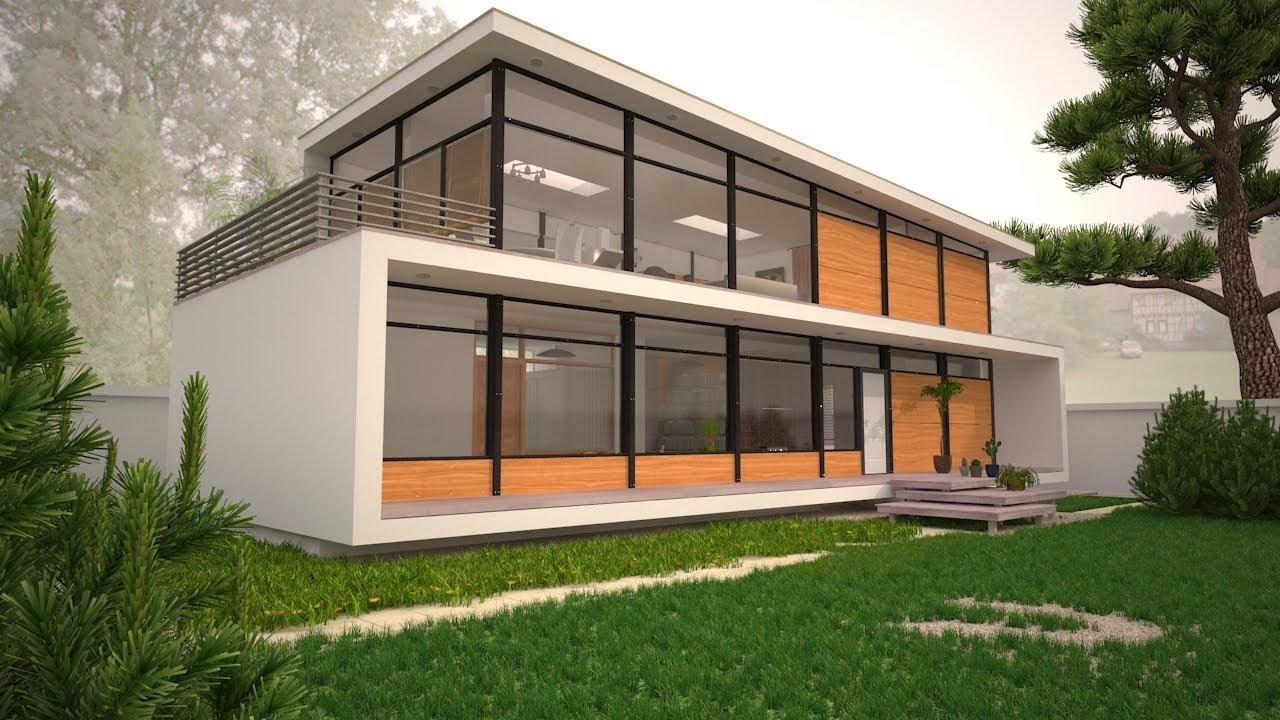 Perspective 3d d'une maison a L.A