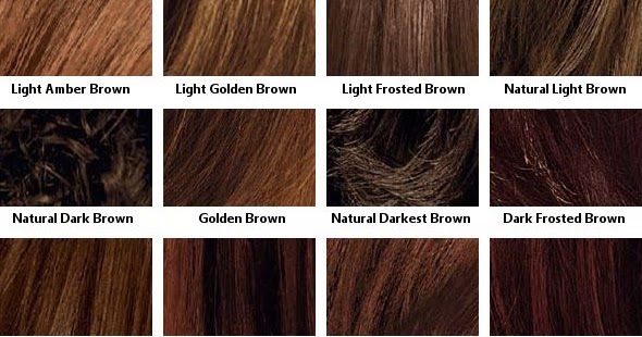Light Brown Hair Color Chart Ibovnathandedecker