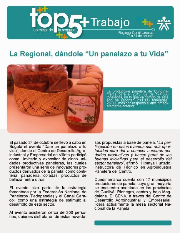 Regional Cundinamarca, dándole una panelazo a tu vida