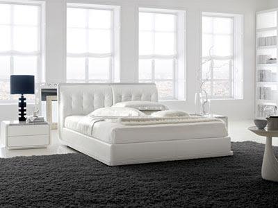 Decoraci n dormitorios color blanco ideas para decorar - Alfombras para dormitorios ...