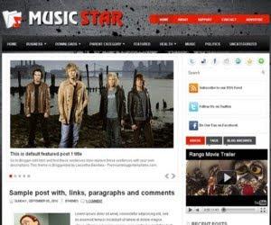 MusicStar Blogger Template