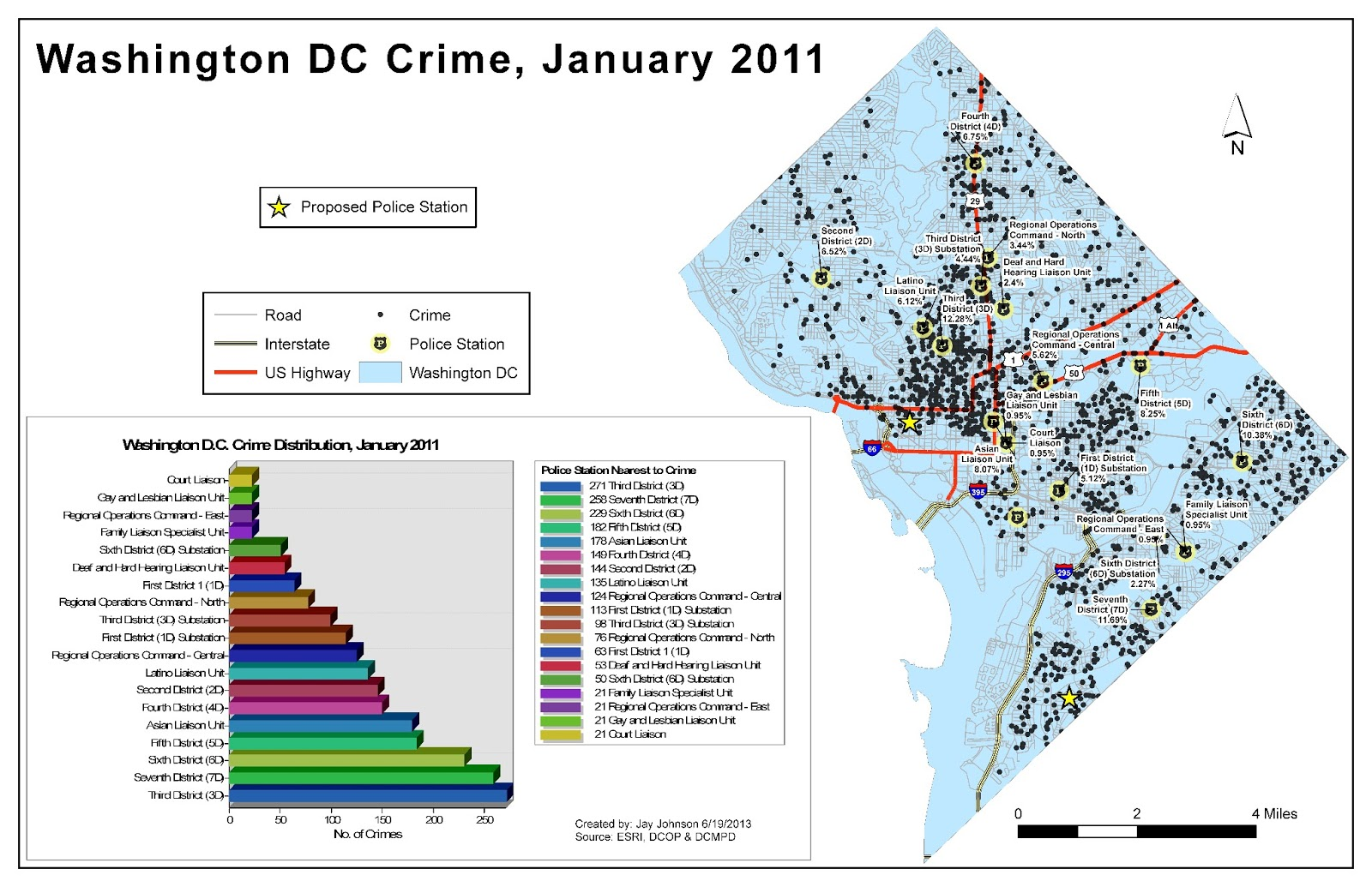 Jay Johnsons UWF GIS Blog DC Crime Lab - Washington dc gis map