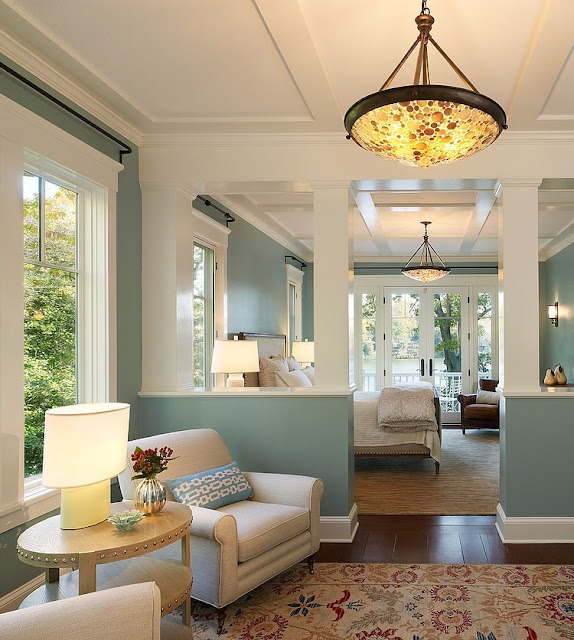 Amerikanischer Landhausstil – zeitlos klassische Einrichtung von Wohnzimmer, Esszimmer und Küche