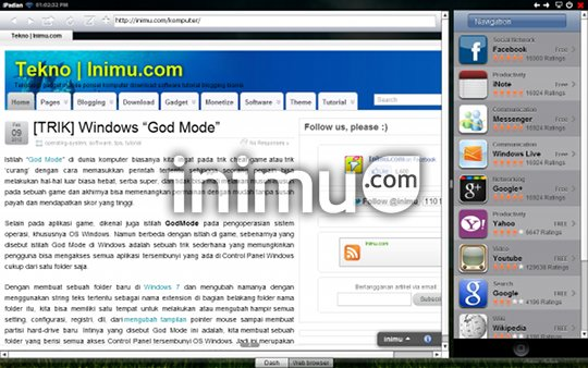 iPadian, iPad emulator for PC - Safari Web Browser