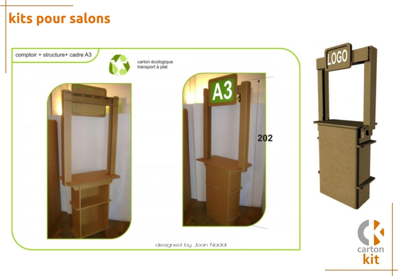 carton kit cr ations objets et meubles 100 carton stand carton. Black Bedroom Furniture Sets. Home Design Ideas