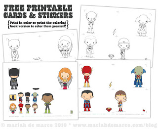 Free Justice League Printables from Mariahdemarco.com